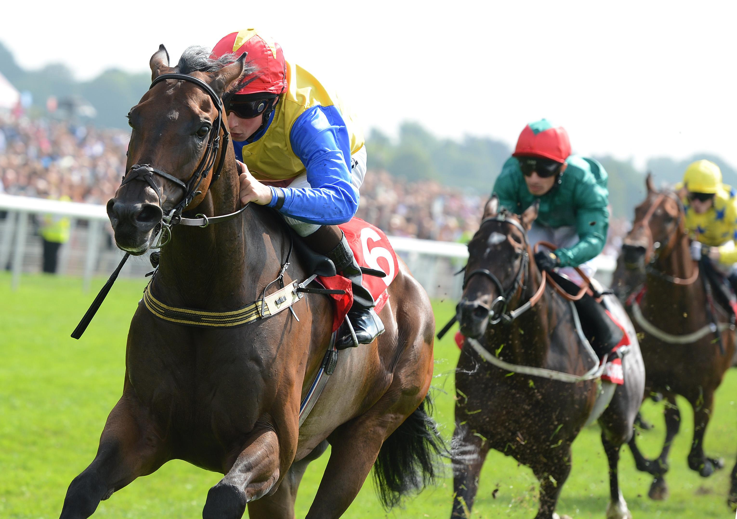 Gordon Lord Byron and William Buick winning the City of York Stakes in 2012