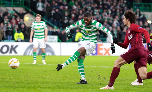 Olivier Ntcham scores for Celtic at the second attempt
