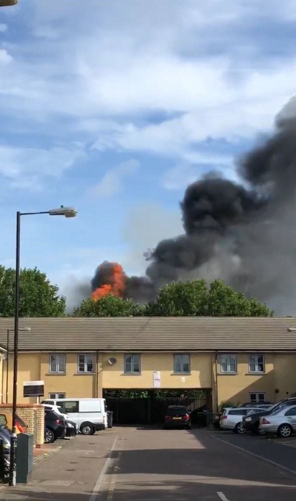 Walthamstow mall fire
