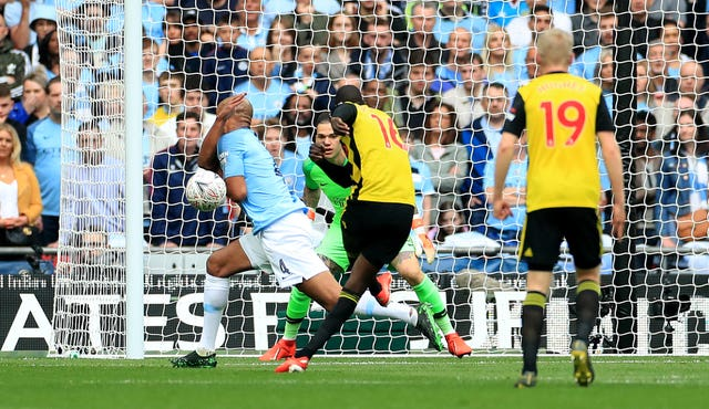 Kompany was maybe lucky not to give a penalty away in the first half