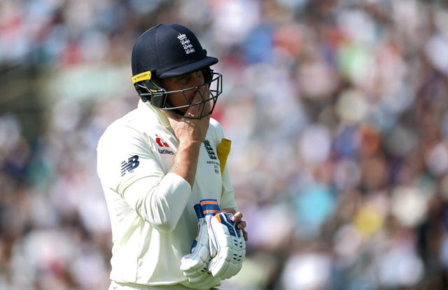 Jason Roy walks off after being dismissed in the third Test at Headingley
