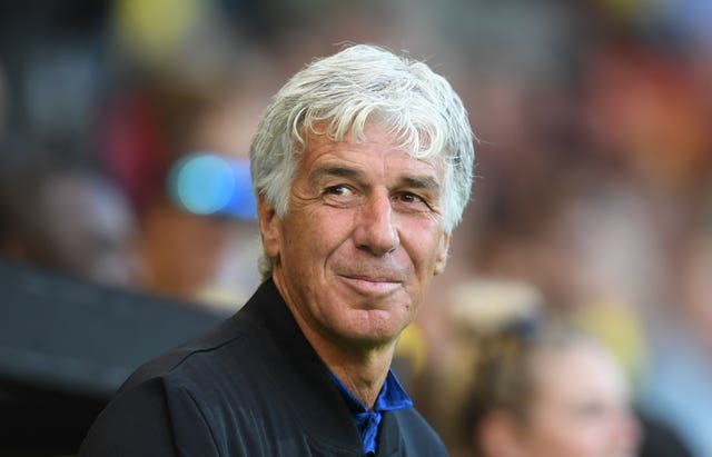 Gian Piero Gasperini has been in charge at Atalanta since 2016 (Joe Giddens/PA).