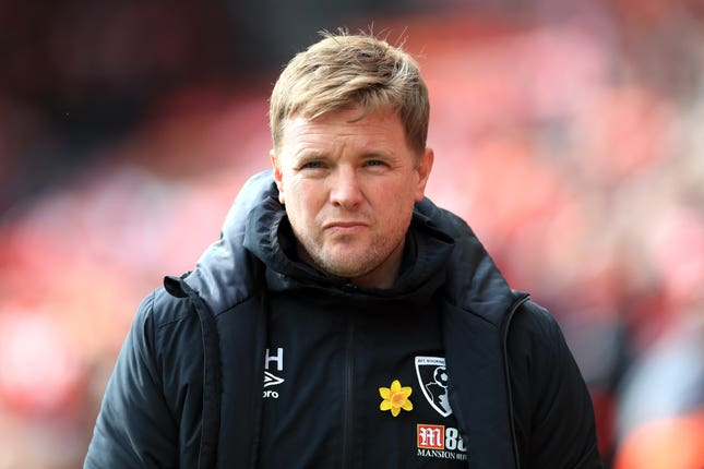 Eddie Howe during his time in charge of Bournemouth