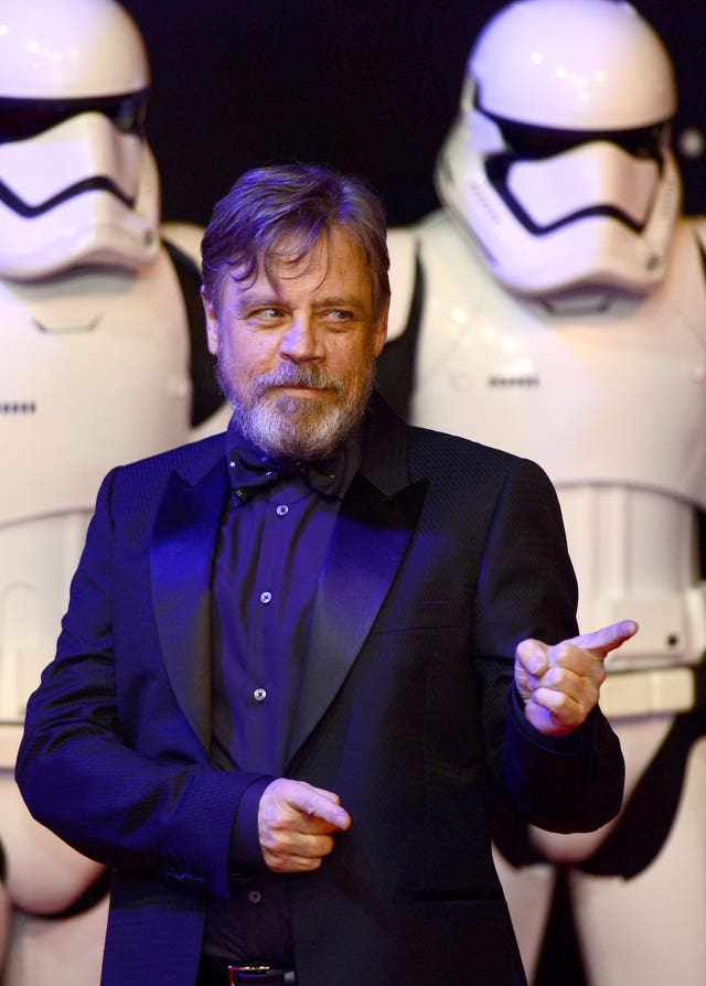 Mark Hamill on the red carpet (Anthony Devlin/PA)