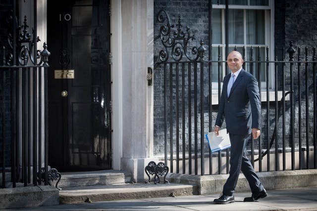 Sajid Javid arriving at his first Cabinet meeting as Home Secretary (Stefan Rousseau/PA)