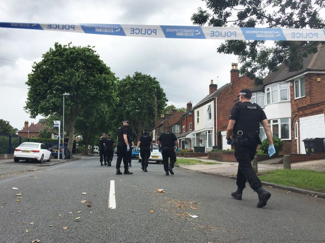 Specialist police on the scene on Goosemore Lane in Erdington