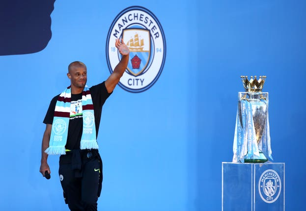 Kompany left City at the end of last season after winning the Premier League title