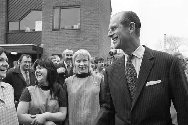 The duke meeting the public