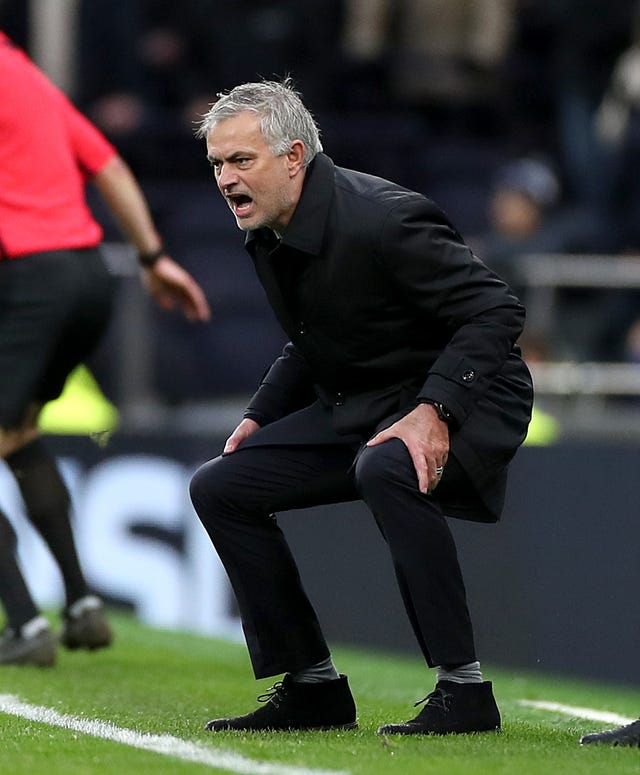 Mourinho was frustrated by Tottenham's first-half performance