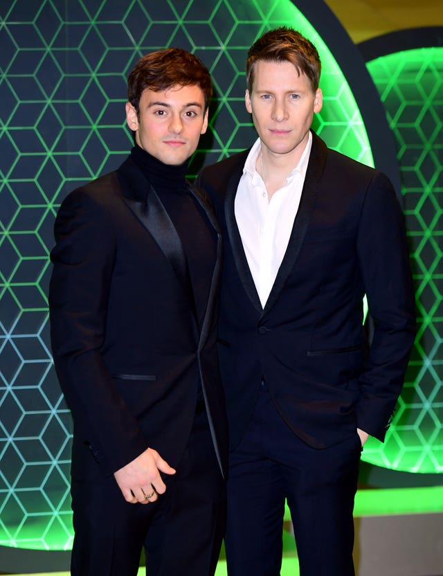 Tom Daley and Dustin Lance Black (Ian West/PA)