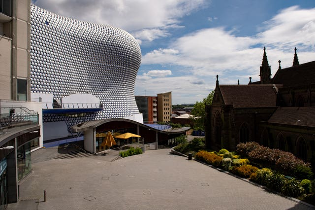 A near-deserted Bullring shopping centre in Birmingham (Jacob King/PA)
