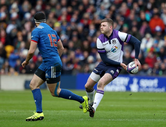 Finn Russell, right, was not at his best against France