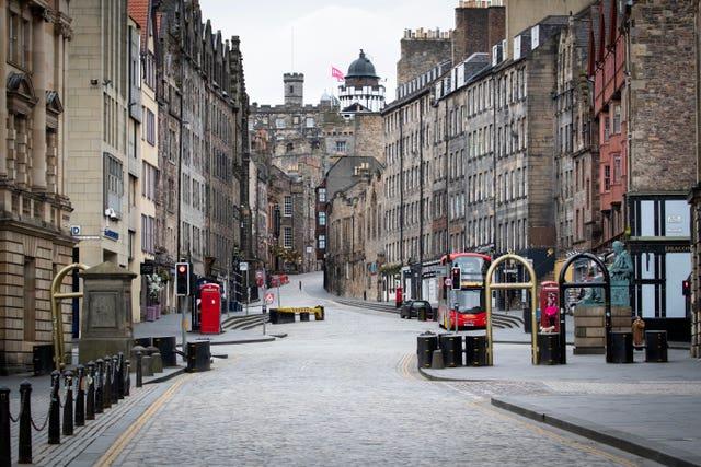 Edinburgh's Royal Mile  (Jane Barlow/PA)