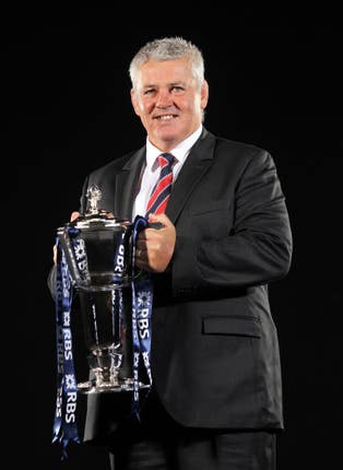 Warren Gatland with the Six Nations trophy
