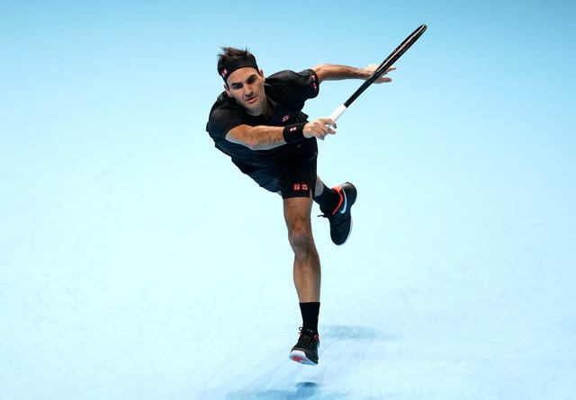 Roger Federer got his first win on the board