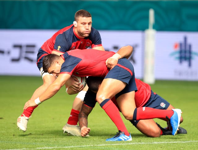 England players have been training in the humidity at Kobe Misaki Stadium