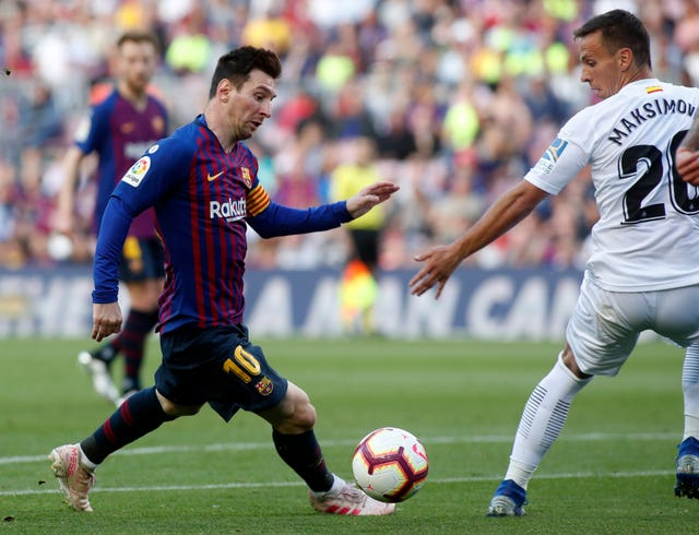 Lionel Messi was involved in both of Barcelona's goals against Getafe