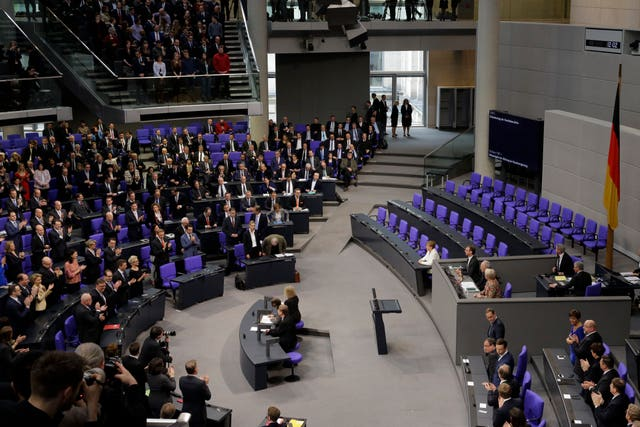 The German parliament Bundestag in Berlin (AP Photo/Markus Schreiber)