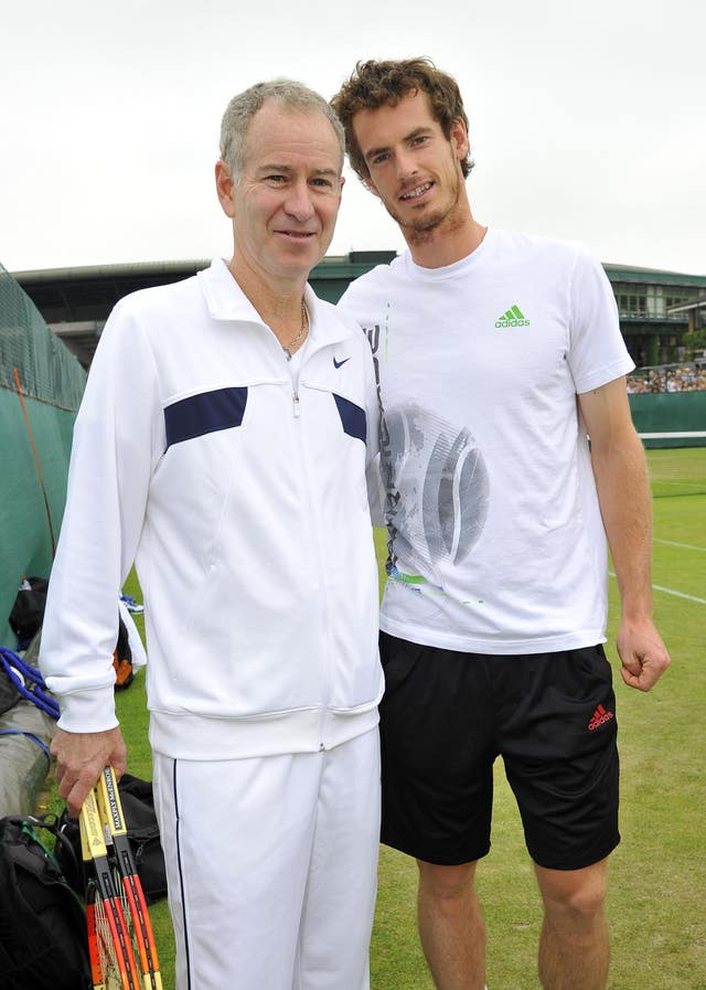 John McEnroe, left, is unsure about Murray's singles prospects