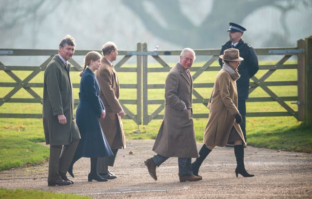 Royals attend Church service