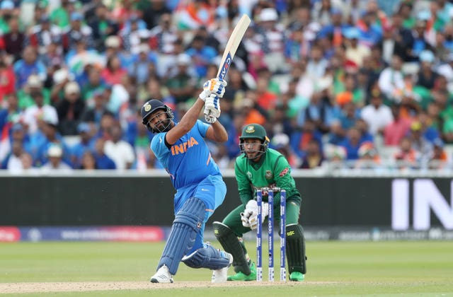 Rohit Sharma looked like challenging Sachin Tendulkar's record for runs in a single World Cu
