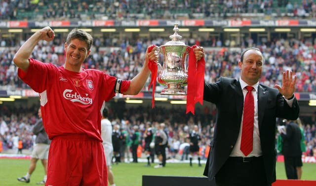 Steven Gerrard was instrumental in Liverpool's FA Cup final win (Nick Potts/PA)