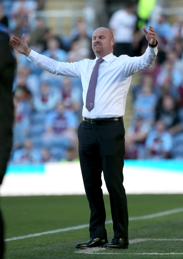 Sean Dyche was unhappy not to be awarded a penalty against Norwich