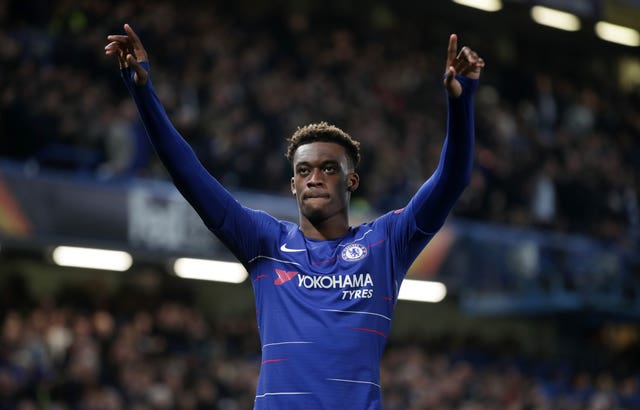 Callum Hudson-Odoi celebrates his goal
