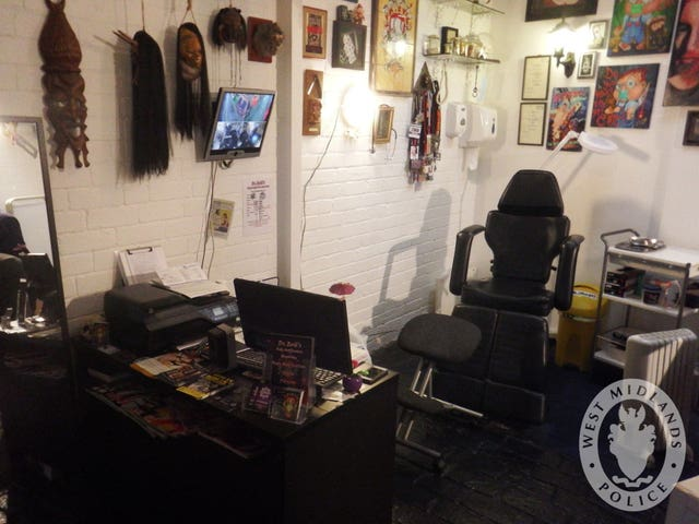 An interior view of Dr Evil's Body Modification Emporium in Wolverhampton