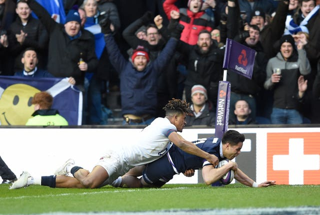 Sean Maitland scores Scotland's second try