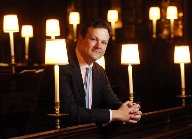 James Vivian, Organist and Director of Music at St George's Chapel in Windsor Castle, will be in overall control of the royal wedding music. (Jonathan Brady/PA)