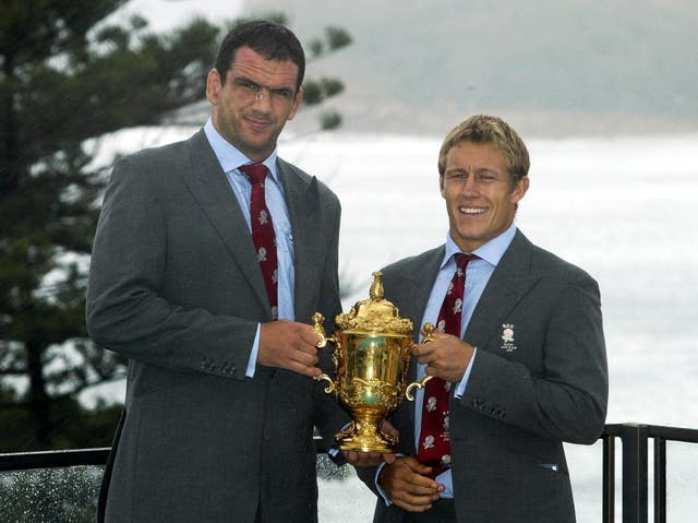 Martin Johnson, left, captained England to World Cup glory in 2003 (David Davies/PA)