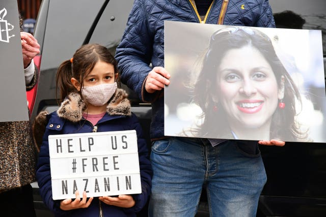 Nazanin Zaghari-Ratcliffe's daughter Gabriella campaigning for the release of her mother