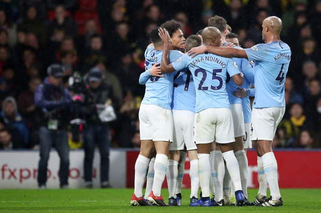 Manchester City are top of the Premier League