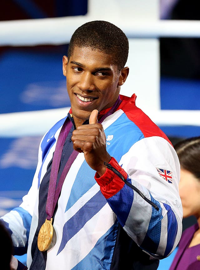 Anthony Joshua with his Olympic gold medal from London 2012