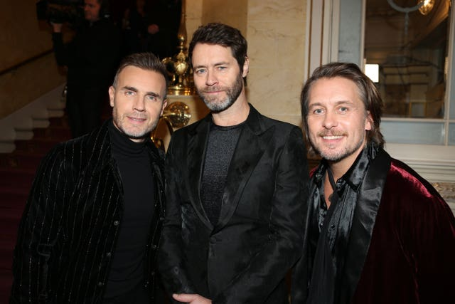 Gary Barlow, Howard Donald and Mark Owen of Take That