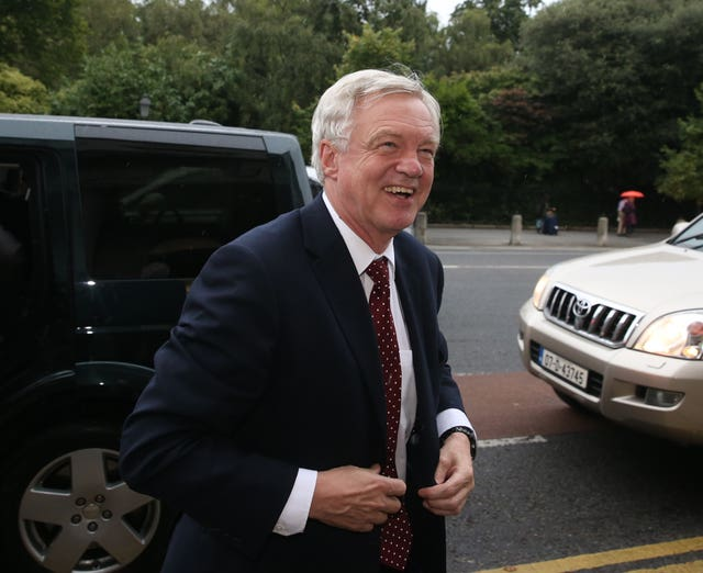 Brexit Secretary David Davis pictured during a visit to Dublin (Brian Lawless/PA)