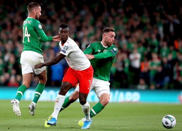 Switzerland's Breel Embolo (centre) impressed during the 1-1 draw with the Republic of Ireland in Dublin