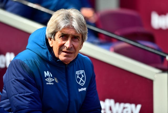 West Ham manager Manuel Pellegrini made sure Rice stuck to his task