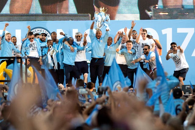 Manchester City Premier League Trophy Parade