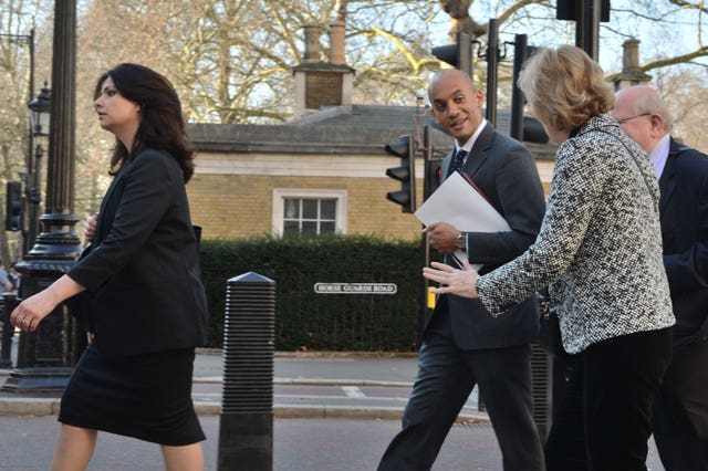 MPs Heidi Allen, Chuka Umunna, Anna Soubry and Mike Gapes arriving at One Great George Street in Westminster for the meeting (John Stillwell/PA Wire)
