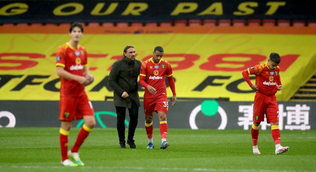 Norwich manager Daniel Farke hailed his side's performance despite defeat