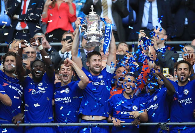 Gary Cahill, centre, believes Chelsea continue to be successful