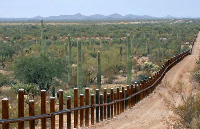 Border wall in Arizona