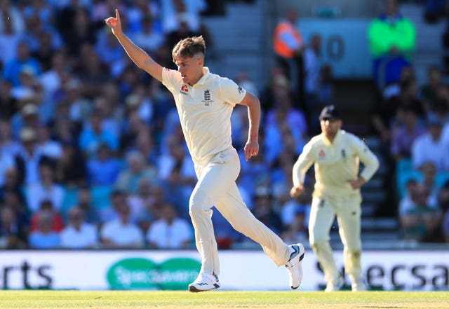 Sam Curran took two early wickets before the England bowling attack started to struggle