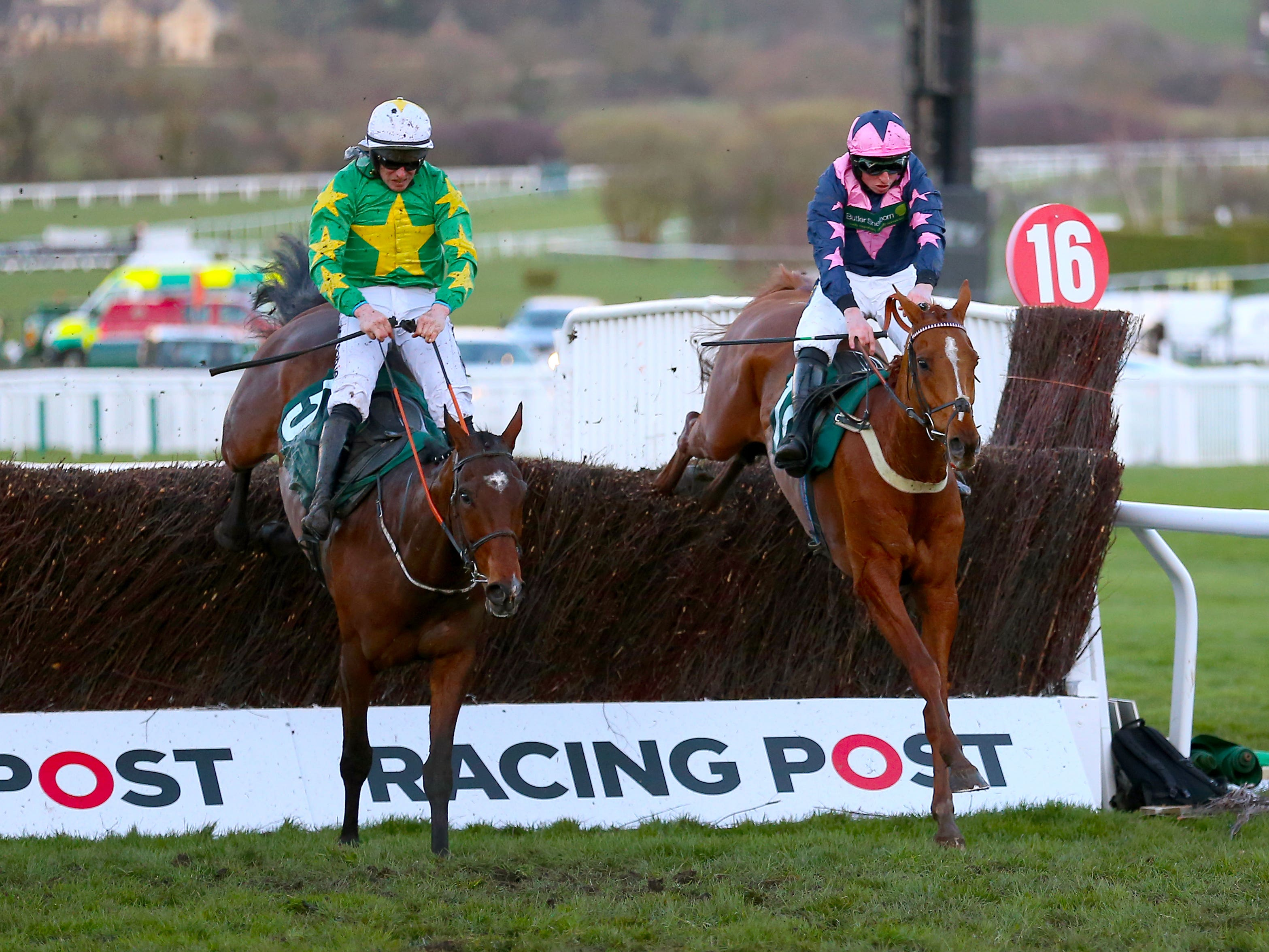Le Breuil sees off Discorama in this year's National Hunt Chase (Nigel French/PA)