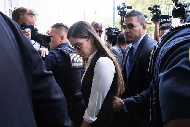 El Chapo's wife Emma Coronel Aispuro arrives for his sentencing