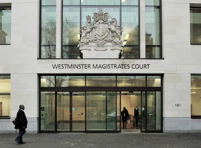 Westminster Magistrates' Court stock