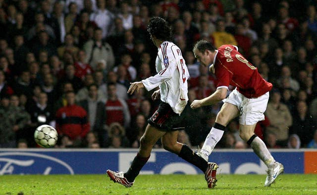 Rooney spearheaded a fightback against AC Milan in 2007