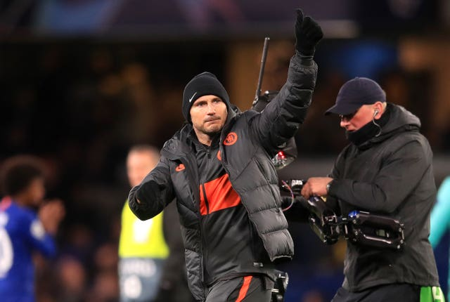 Chelsea manager Frank Lampard celebrates his side's victory